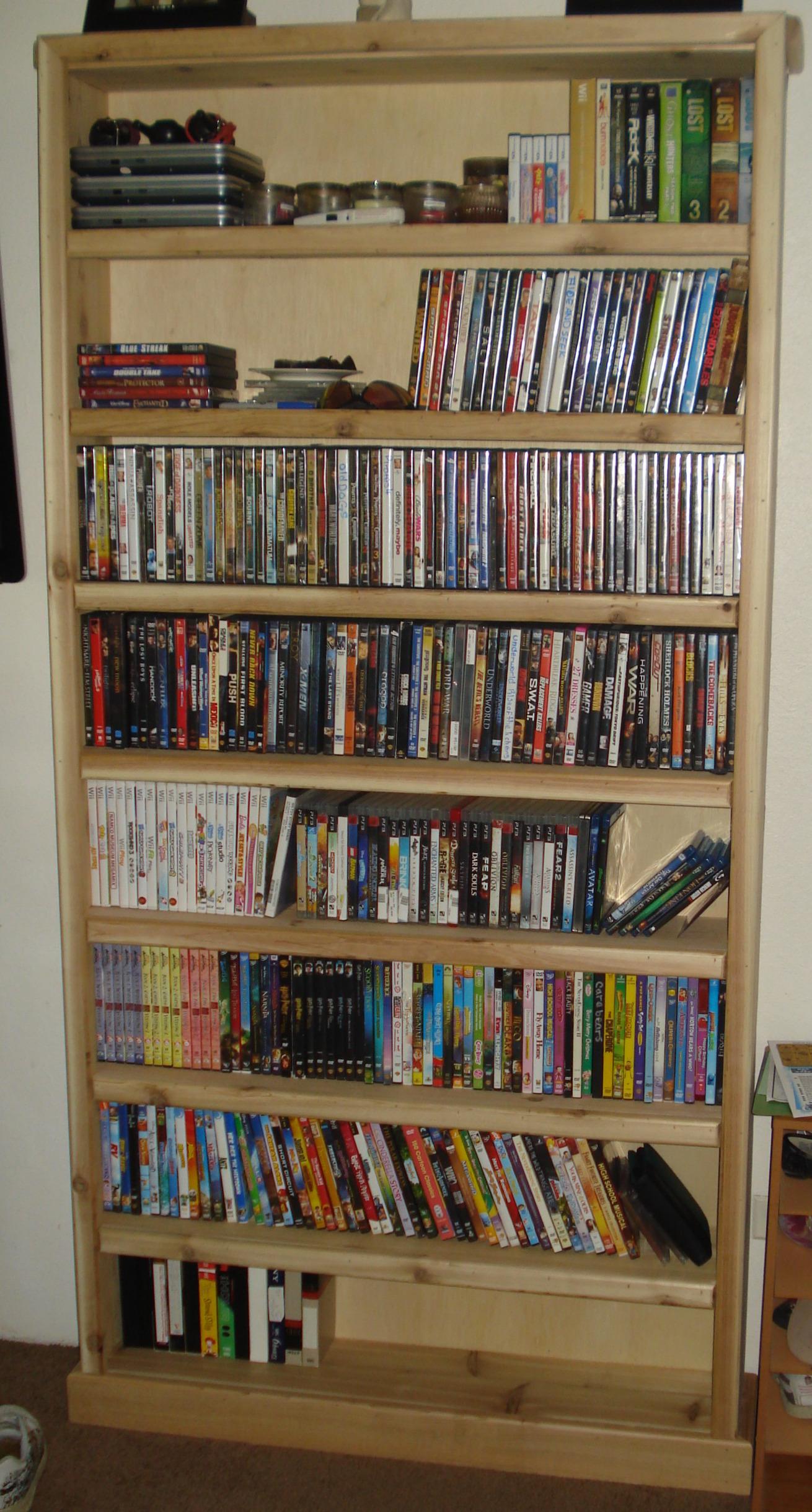 Dvd Bookshelf Plans Wood Toboggan DIY PDF